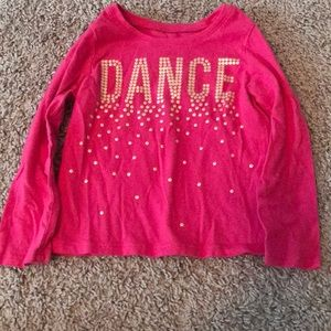 The Children's Place 2T Pink Dance Long Sleeve T